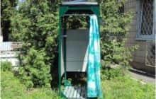 Готовая кабинка для дачи