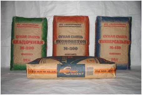 Различные марки бетона