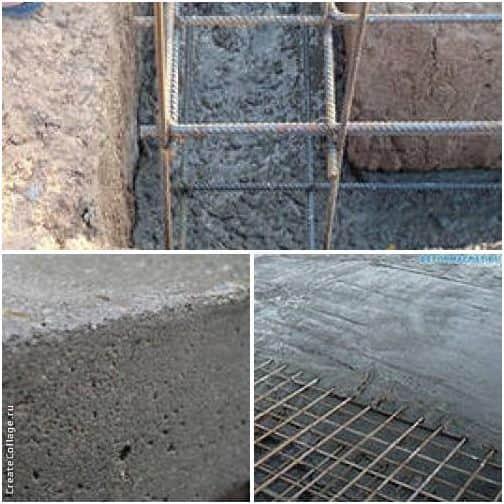 Этапы заливки бетоном ленточного фундамента