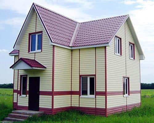 Каркасный частный дом