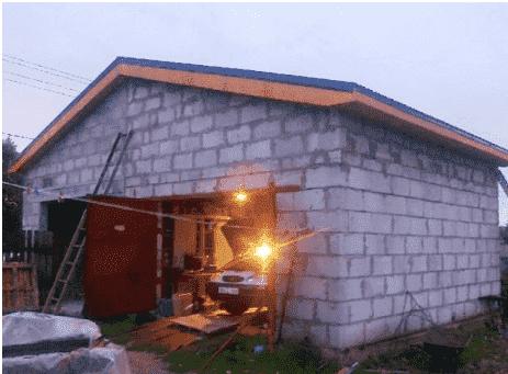 Дешевая конструкция гаража из блоков
