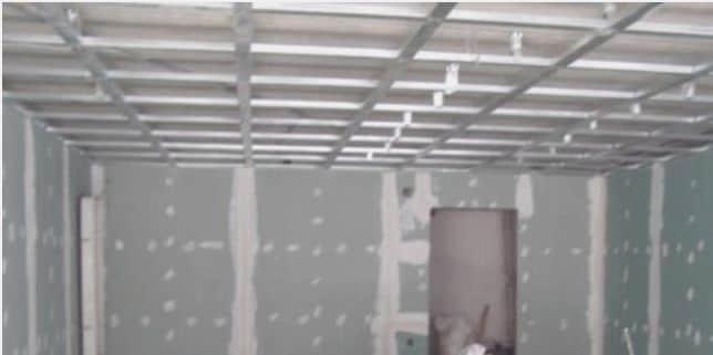 Готовая обрешетка для потолка