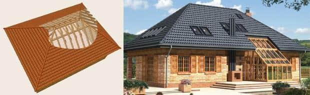 Так выглядит готовая вальмовая крыша