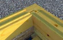 Угловое соединение профилированного бруса