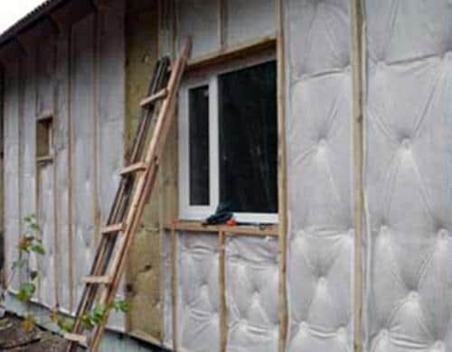 Результат утепления стен дома из бруса снаружи