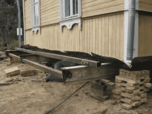 Ремонт фурдамента деревянного дома