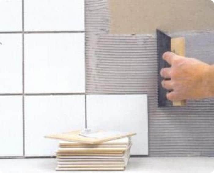 Расход плиточного клея для стен из гипсокартона