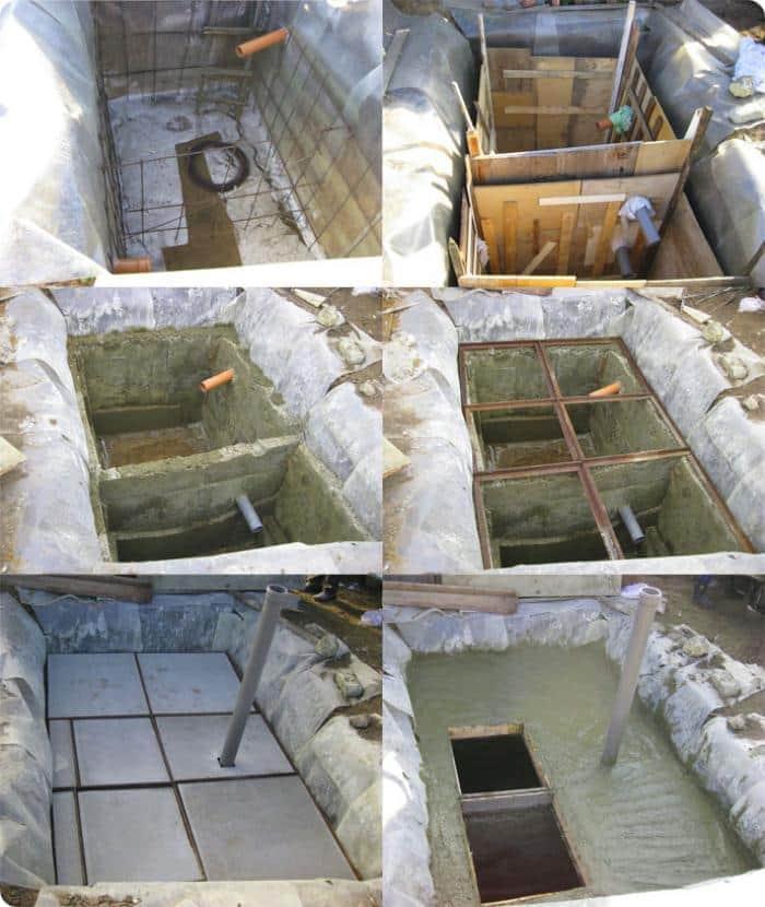 Септик без откачки своими руками из монолитного бетона