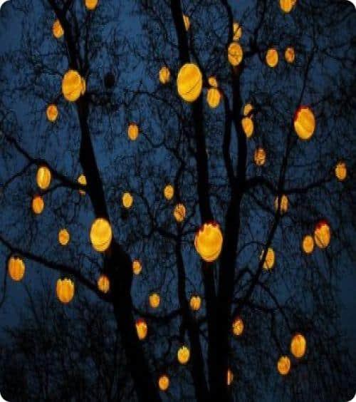 Декоративные светильники на дереве