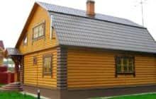 Дом, обшитый блок хаусом - Фото