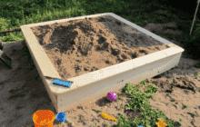 Игровое место для детей - сами строим песочницу