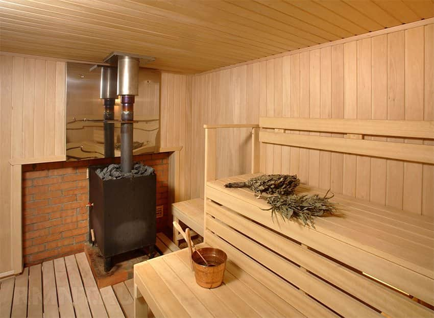 Баня имеет высокий температурный режим