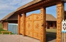 Как построить деревянные ворота самостоятельно