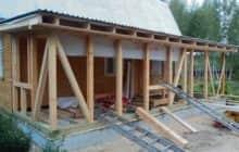 Как построить веранду к дому своими руками