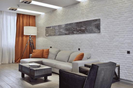 Способы отделки стен в гостиной