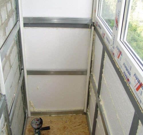 Как утеплить балкон изнутри пенопластом