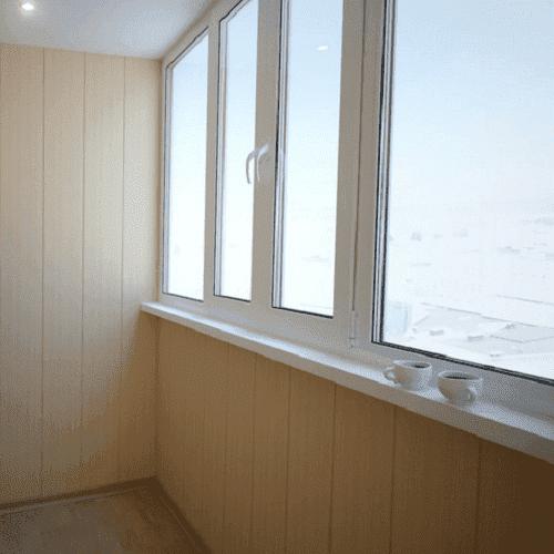 Монтаж мдф панелей на балконе