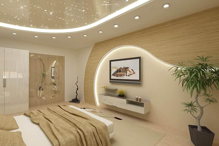 Варианты освещения потолка