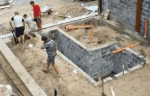 Ленточный фундамент для гаража