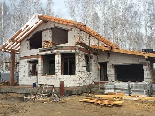 Строительство дома из пеноблоков