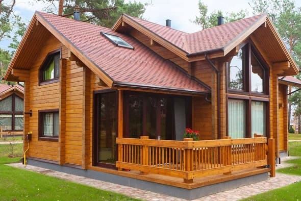 Дома из клееного бруса - преимущества