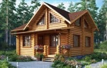 Покраска деревянного дома из бруса и бревна
