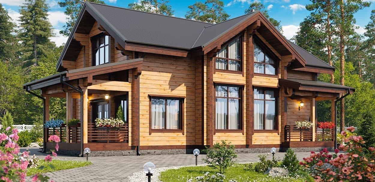 Проекты домов из клееного бруса в Екатеринбурге