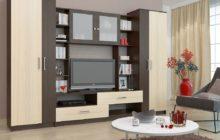 Белая корпусная мебель для гостиной