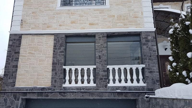 Рольставни из стекла и поликарбоната