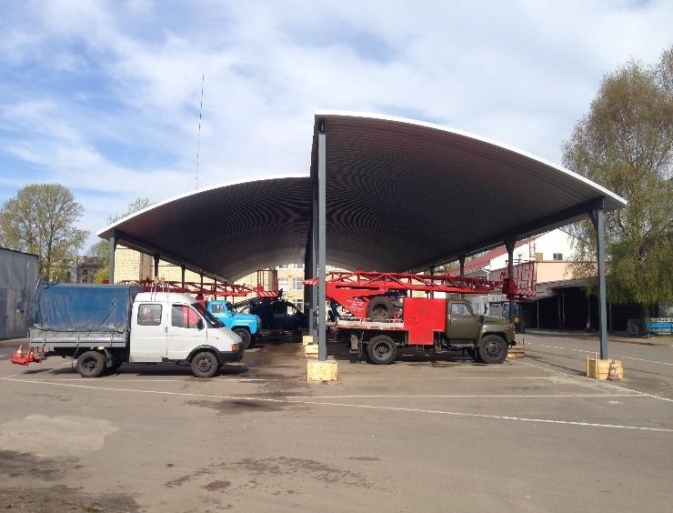 Арочный гараж